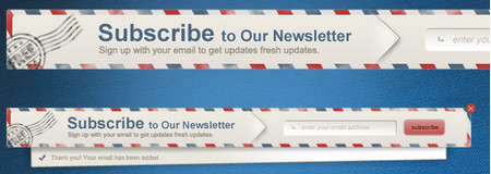 Newsletter Envelope Signup Pop Up Form