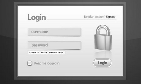 SIMPLE & CLEAN LOGIN MODAL WINDOW [PSD]