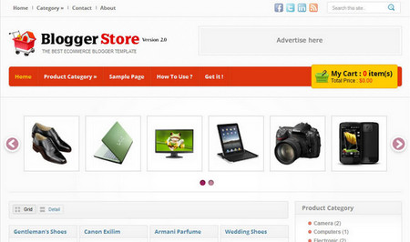 Blogger Store Blogger Template