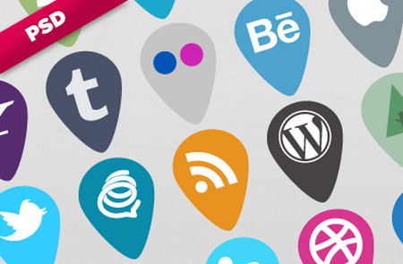Pin Social Icons - Plain 'n' Simple