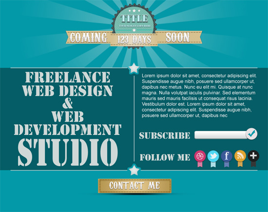 Freebie: Coming Soon Page PSD Template