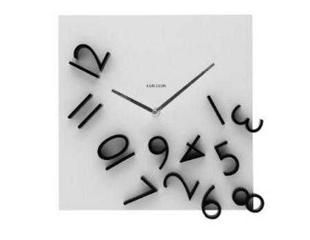 Karlsson Wall Clock Falling Numbers