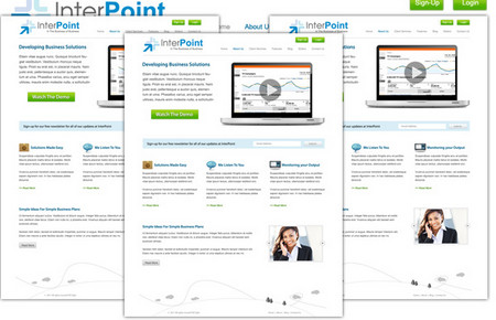 Interpoint: Free PSD Business Template