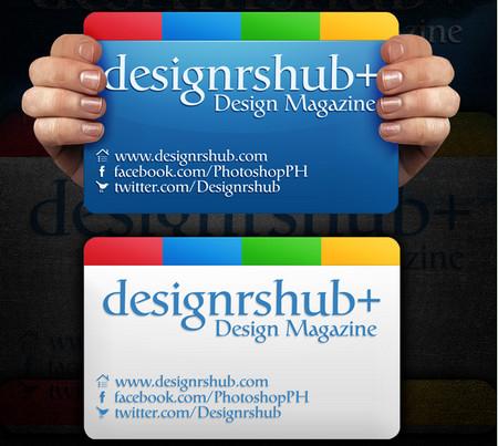 Google Plus Business Card PSD Template