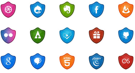 50 Free Vector Social Media Badges