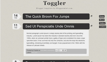 Toggler Blogger Template