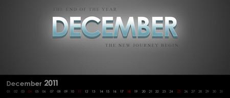Desktop Wallpaper Calendar of December 2011