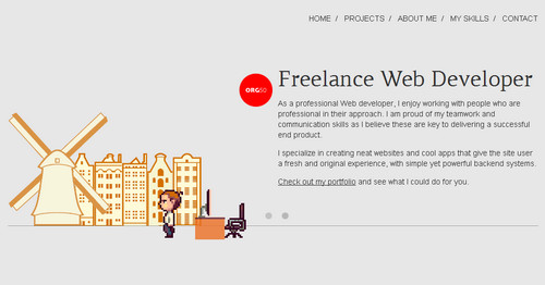 org50 - Online Portfolio of a freelance web developer  living in the Netherlands
