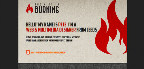 The City is Burning - Leeds based freelance web design