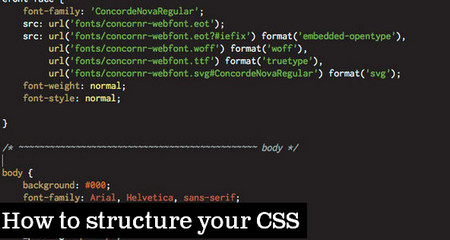 How to structure your CSS