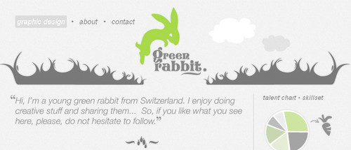 Green Rabbit - Graphic Design