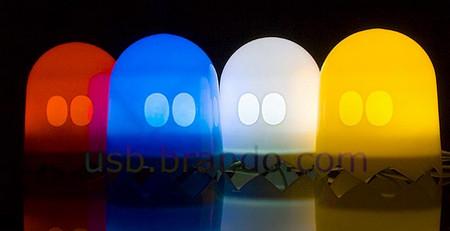 USB Light-Sensitive Pacman Ghost Lamp