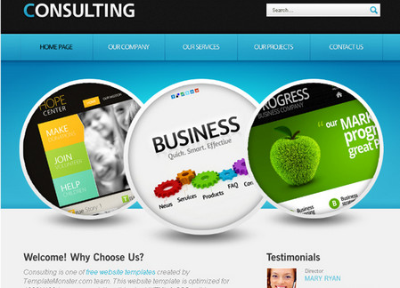 Website Template with jQuery Slider for Consulting Business