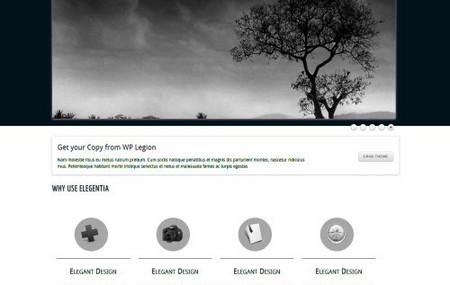 Elegantia, a Free Portfolio WordPress Theme from WPLegion