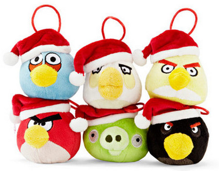 Christmas Tree Decoration 6 pack with Santa Hats