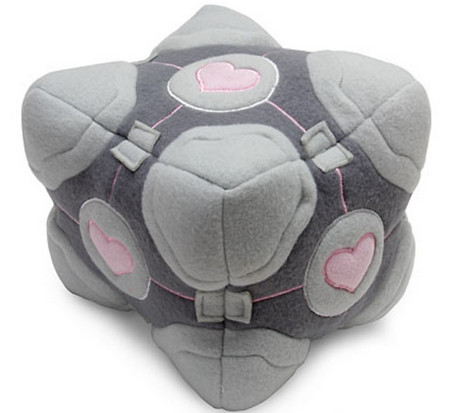 Portal Weighted Companion Cube Plush