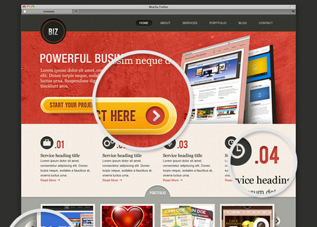 """BiZ"" Business Website PSD Templates"