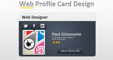 Web Profile Card Design .psd