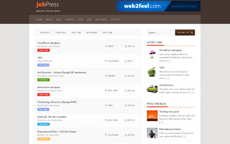 Jobpress is a very special theme from web2feel