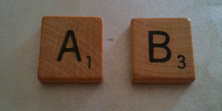Vintage Wooden Scrabble Cufflinks