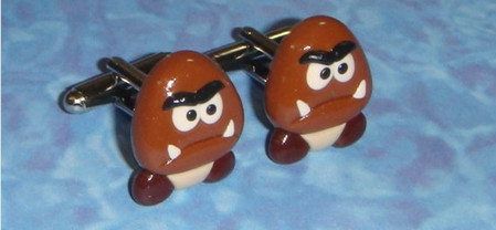 Nintendo Goomba Cufflinks