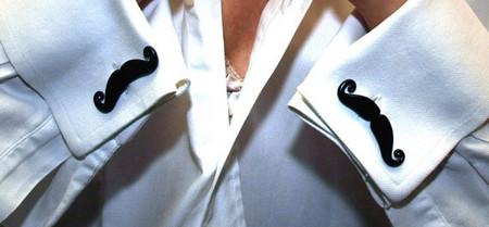 Black Mustaches Cufflinks Handlebar Style Handmade