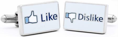 Like Dislike Social Network Cufflinks