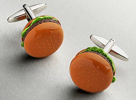 Hamburger cufflinks