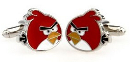 Red Angry Birds Game Cufflinks