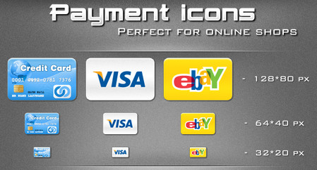 Payment icons for eCommerce online shopping