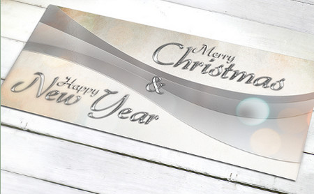 Christmas and New Year Greetings Card Set