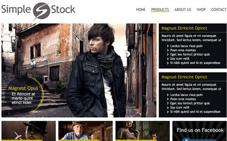 Simple Stock: Free Clean Website PSD Template
