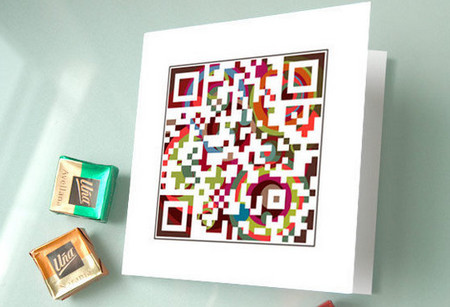 QR Christmas Cards ($12, Set of Four)