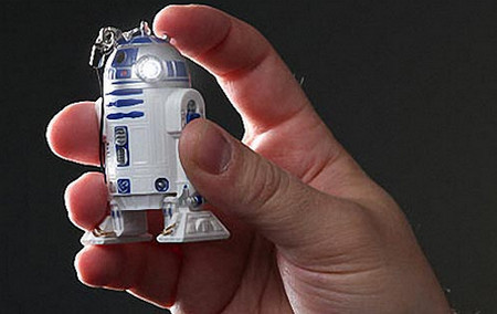Star Wars R2-D2 LED Flashlight Keychain
