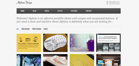 Alphine Homepage 