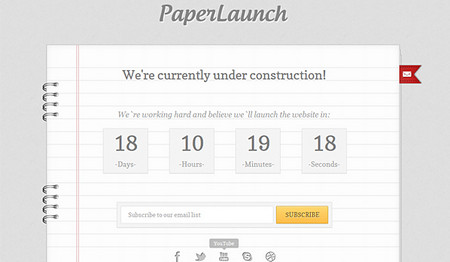 PaperLaunch  Free Under Construction Template