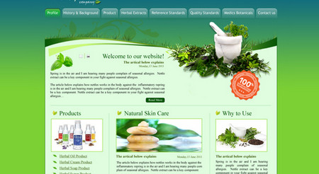 Herbal Medicine Website Template
