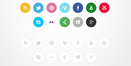 IC Circle Social Icon Set