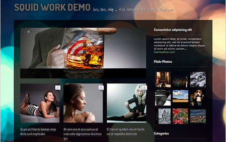 Squid Work! – a Delightful WP Theme