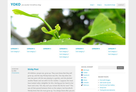 Yoko - HTML5/CSS3 WordPress 3.1+ Theme With Responsive Layout