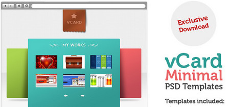 V-Card Minimal website template