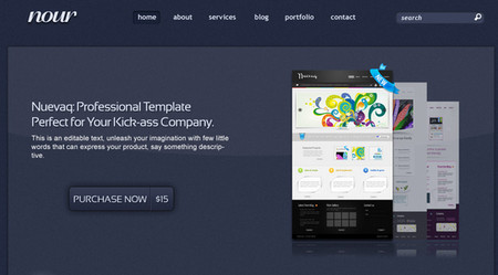 Noir : Complete website template