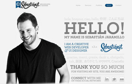 30 Effective And Inspiring About Me Pages