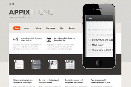 Appix Theme Home Page