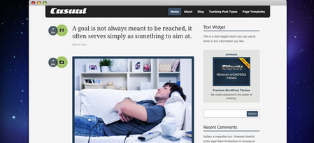 Casual is a WordPress tumblog theme