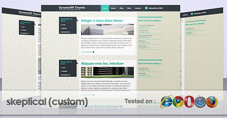 Custom of Skeptical Theme from WooThemes