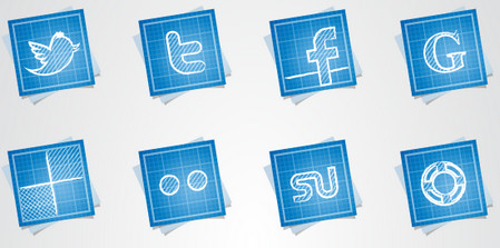 16 Free Blueprint Social Media Icons