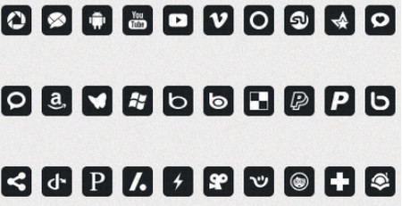 social icon set 6
