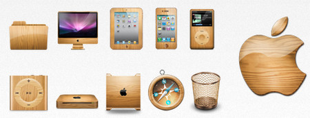 Apple Inc.Themed Wooden Graphics Set