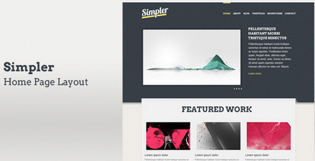 Simpler home page